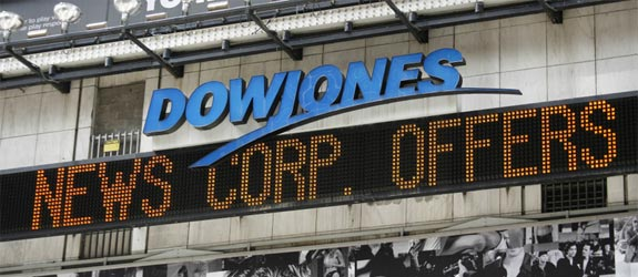 dow jones news corp sign