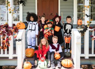 Little Children Halloween Costumes Pumpkins Trick Or Treat