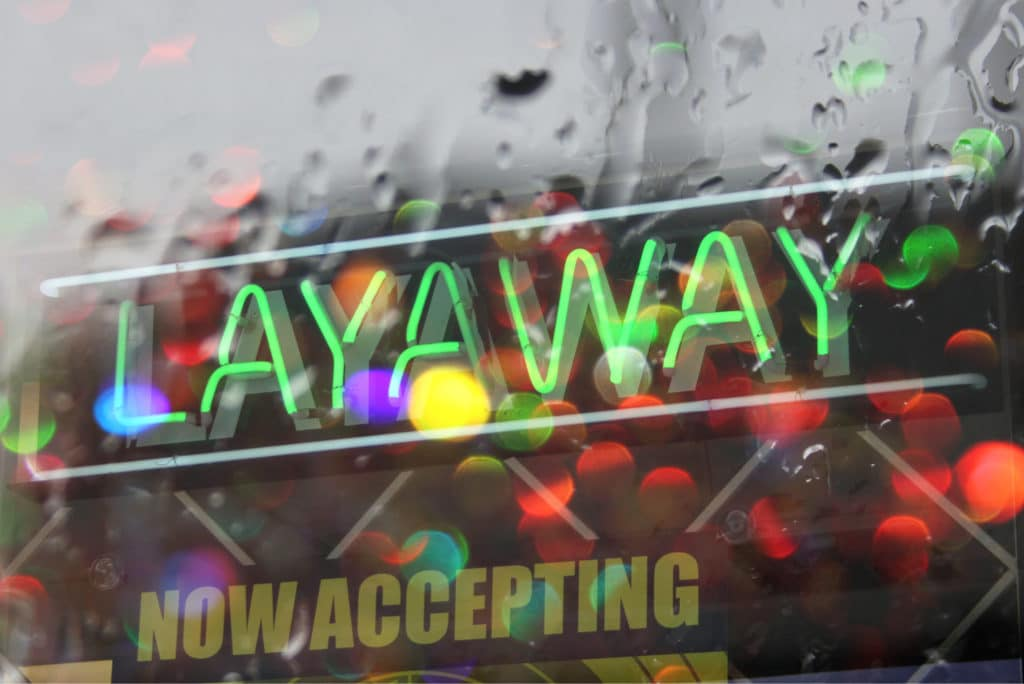 Stores Offer Layaway