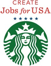 create jobs usa starbucks