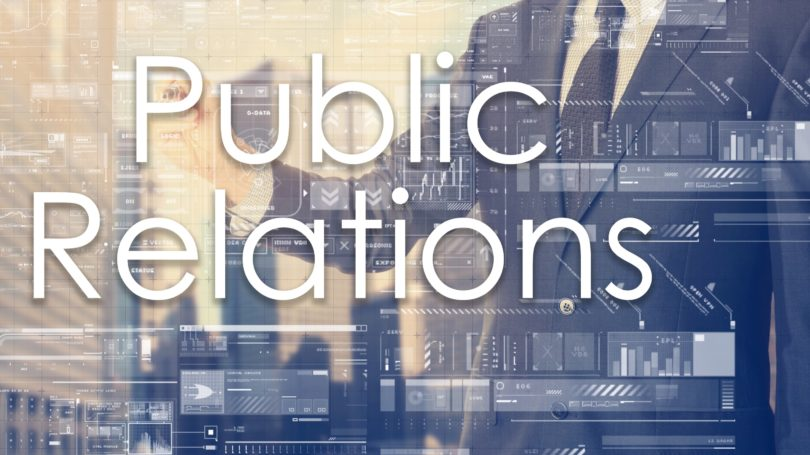 Public Relations Executive Cityscape Graphs Data