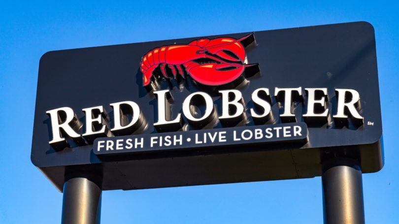 Red Lobster Chain Restaurant Sign