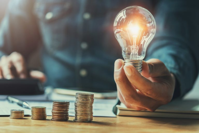 Lightbulb Calculator Counting Money Idea Investing Business Planning