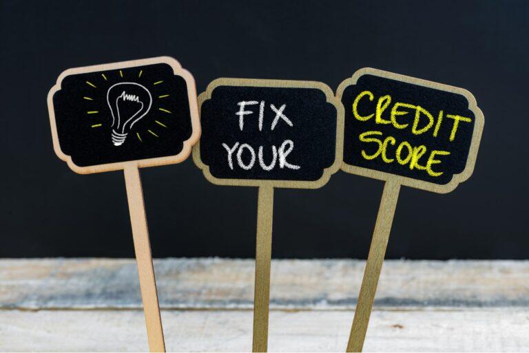 Ideas Light Bulb Fix Your Credit Score Chalk Board