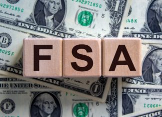 Fsa Flexible Spending Account Block Letters Cash