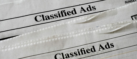 advertise your car in the classifieds