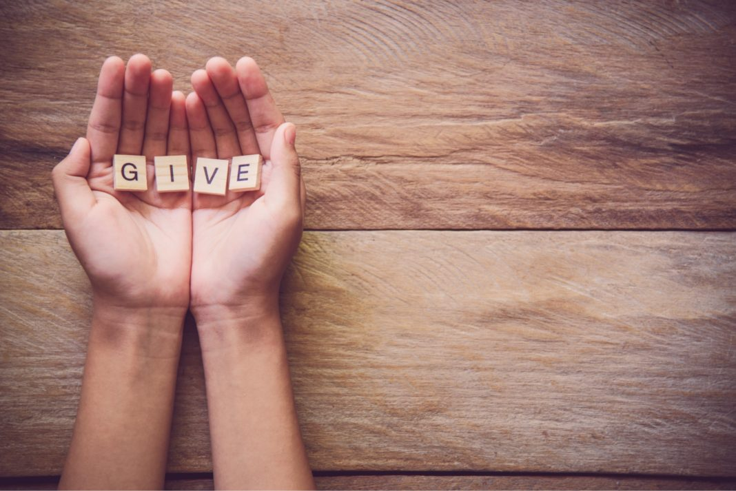 Hands Holding Give Letters Charitable