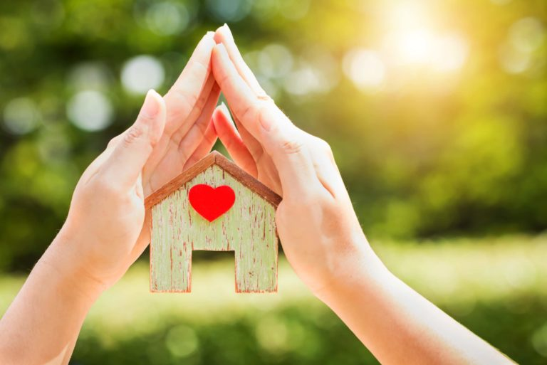 House With Heart Held By Hands