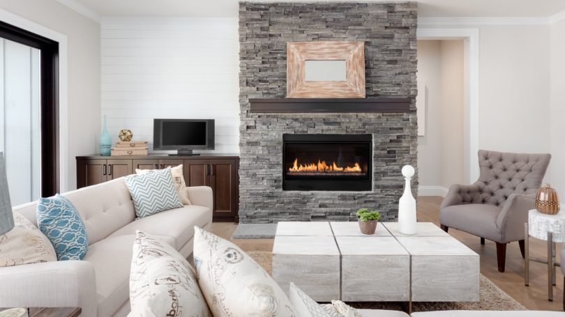 Fireplace Living Room Interior Design Furniture