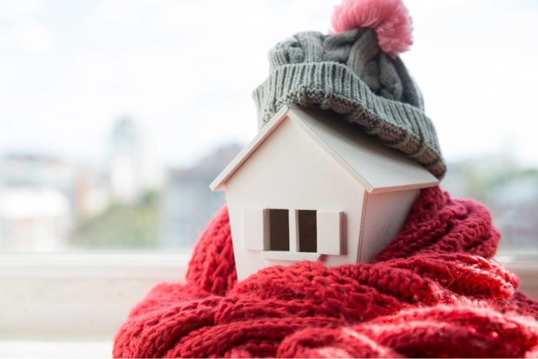 House Winter Heating System Cold Concept