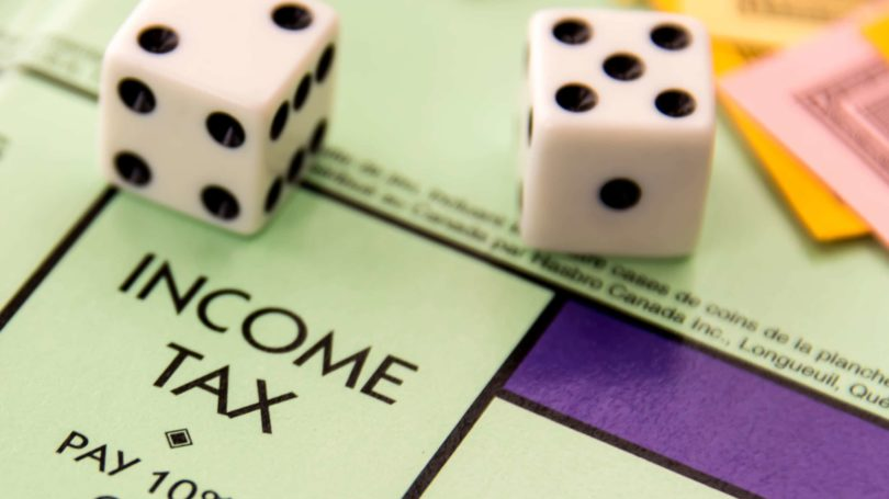 Income Tax Rate Monopoly Dice Board Game