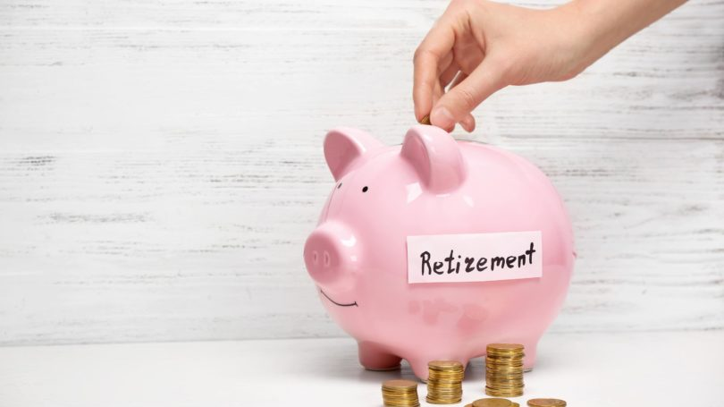 Retirement Piggy Bank Savings Coins