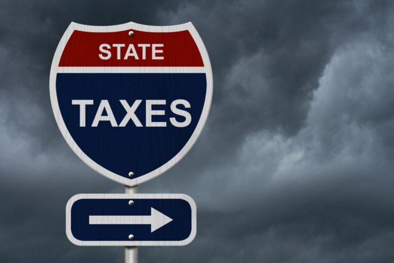 State Tax Intersection Sign Highway