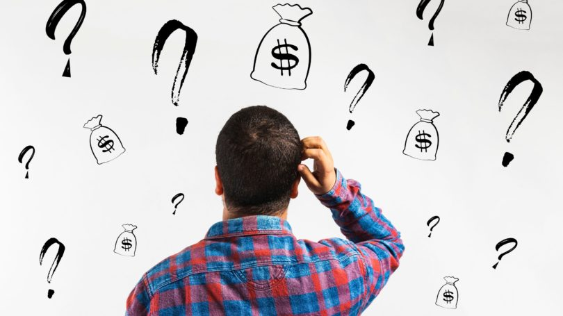 Question Mark Asking For Raise Investment Options Dilemma