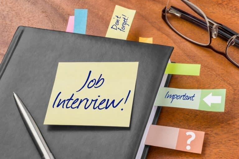 Job Interview Planner Postit Notes