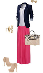 work maxi skirt outfit
