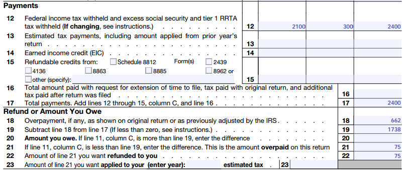 Form 1040x Instructions How To File An Amended Tax Return