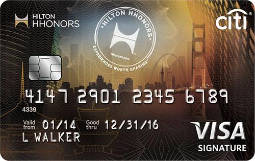 citi hilton hhonors visa signature card