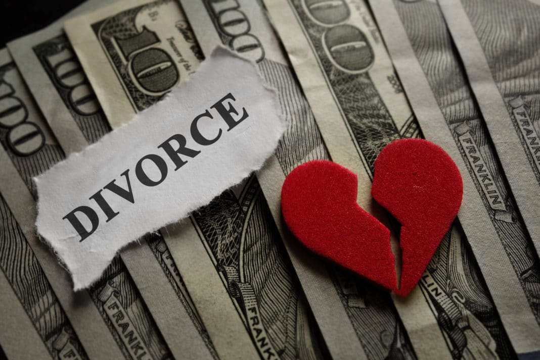 Divorce Broken Heart Money Bills
