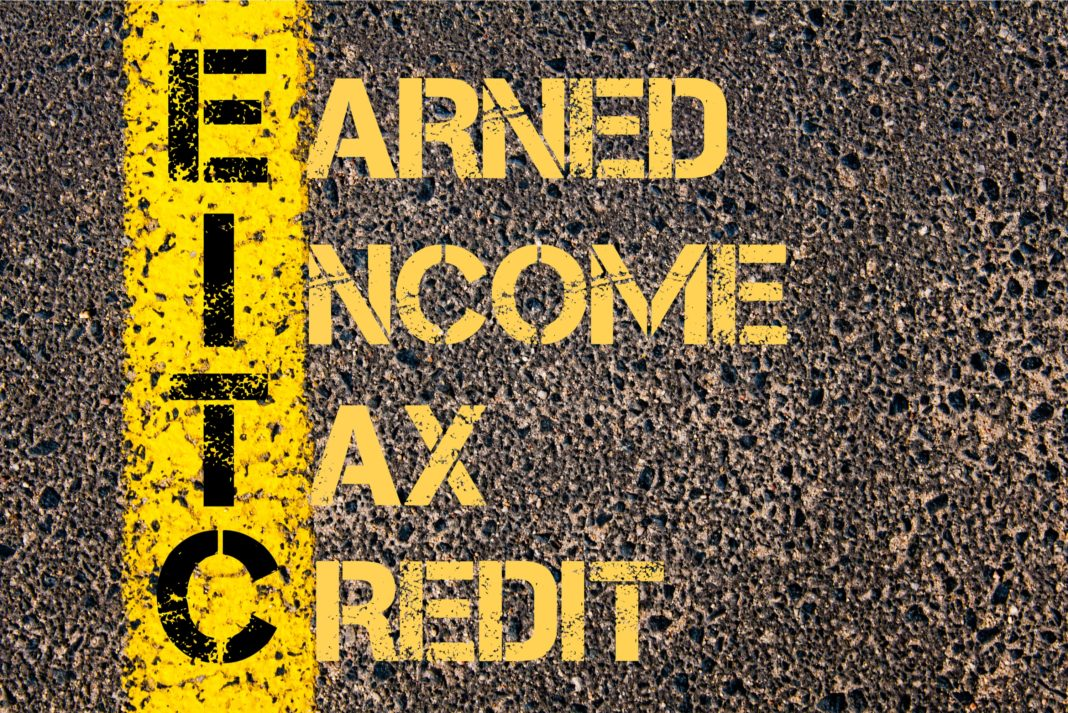 Earned Income Tax Credit Street Concrete Paint