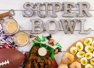 Super Bowl Party Deviled Eggs Wings Football Beer