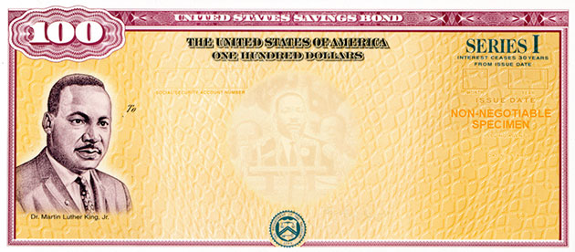 mlk 100 savings bond