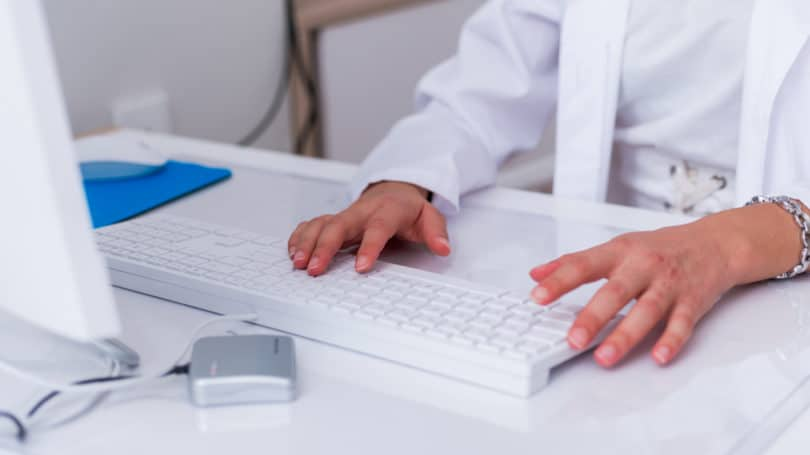 Typing Medical Transcription