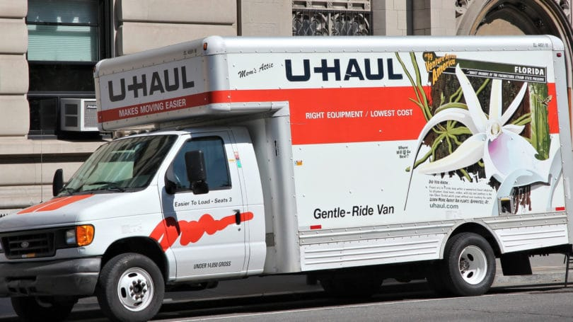 U Haul Moving Equipment Storage