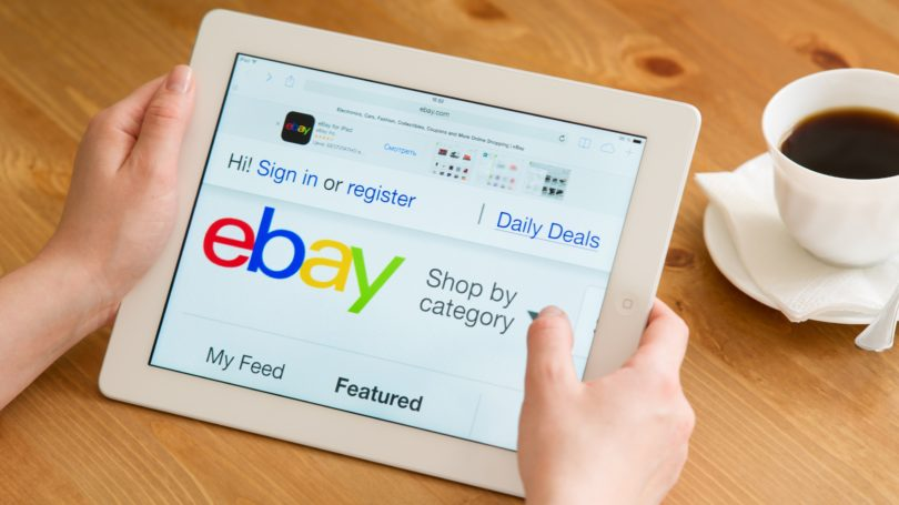 Ebay Shopping On Tablet Coffee Table