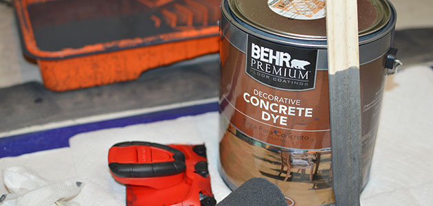 concrete dye and supplies