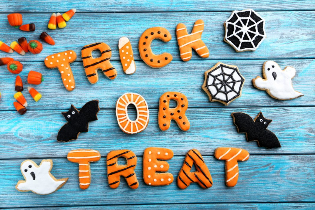 Trick Or Treat Cookies Ghosts Bats Candy Corn Web