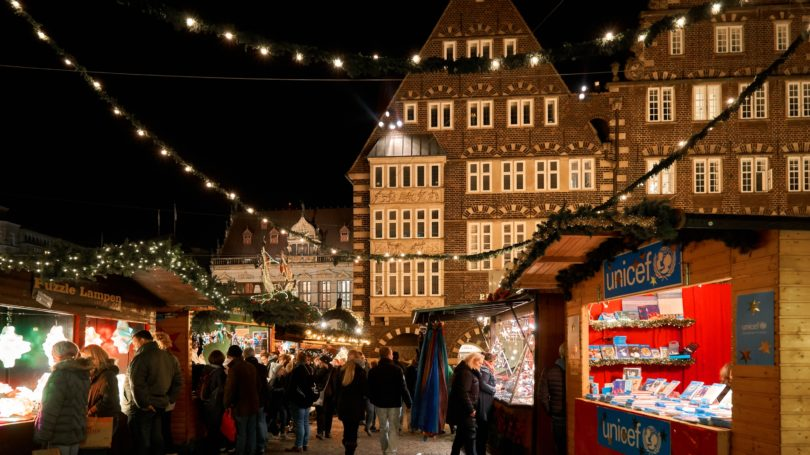 Unicef Christmas Market Berlin Germany Outdoor Charity