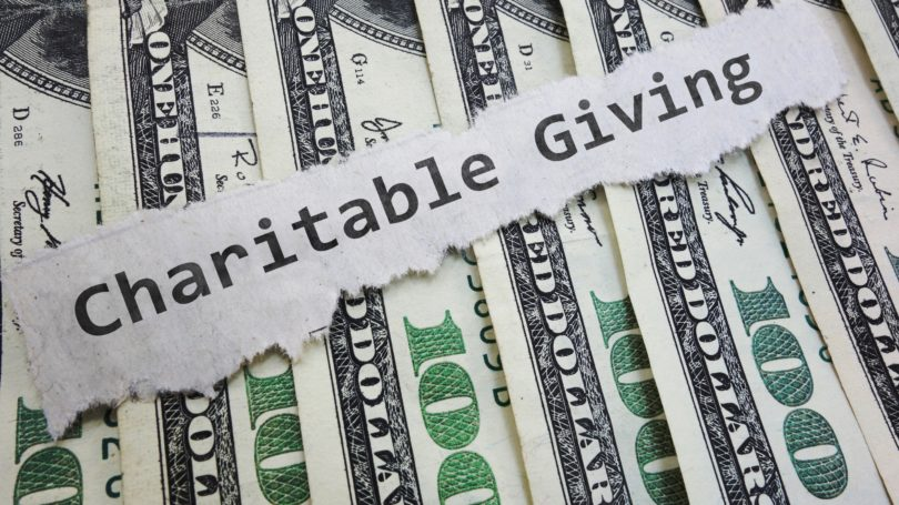 Charitable Giving Cash Hundred Dollar Bills