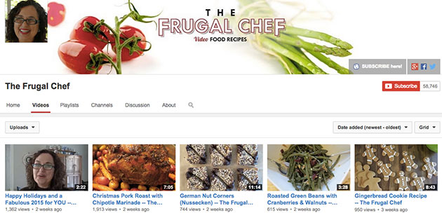 the frugal chef youtube