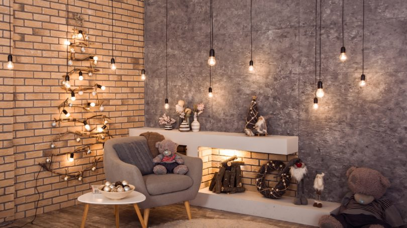 Modern Holiday Decoration Living Room Interior