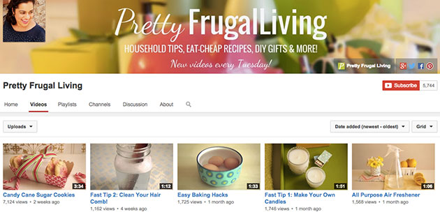 pretty frugal living youtube