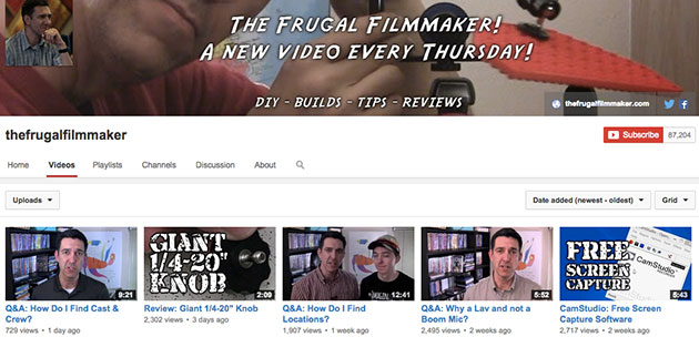 thefrugalfilmmaker youtube