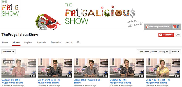 thefrugaliciousshow youtube