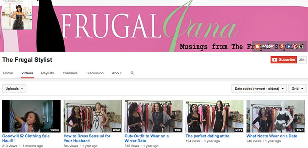 thefrugalstylist youtube