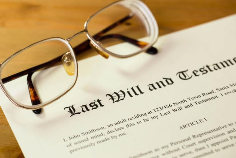 Last Will And Testament Table Glasses