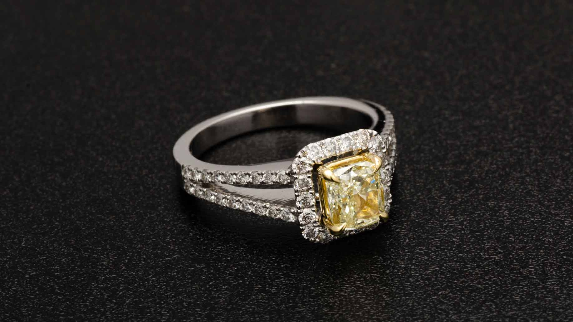 size cut gold used of settings diamond engagement ring wedding yellow large ct oval rings