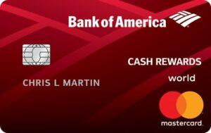 Bank Of America Bankamericard Cash Rewards World Mastercard Lase