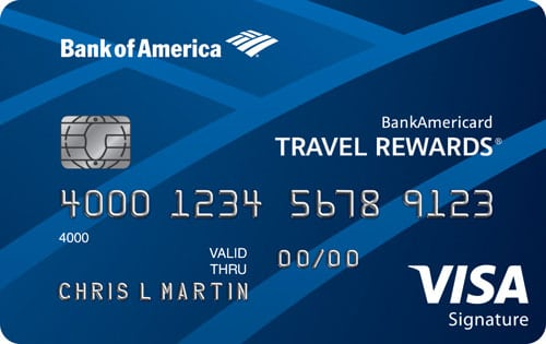 bankamericard travel rewards credit card