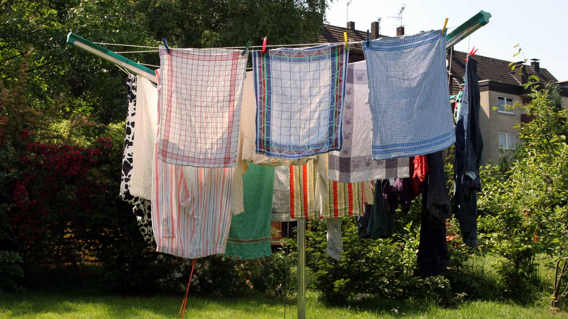clothes drying outdoors