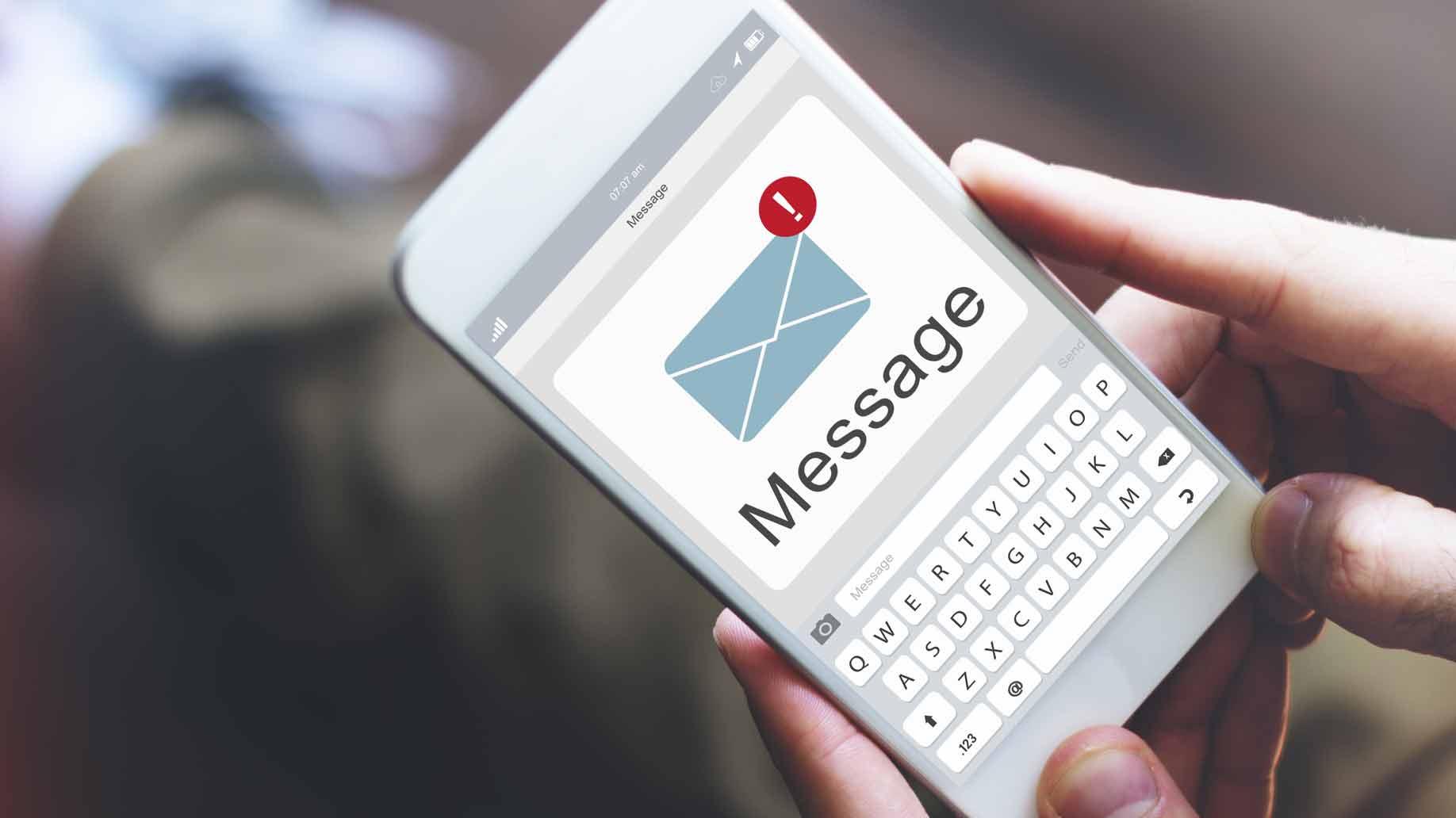 phone text alert notification