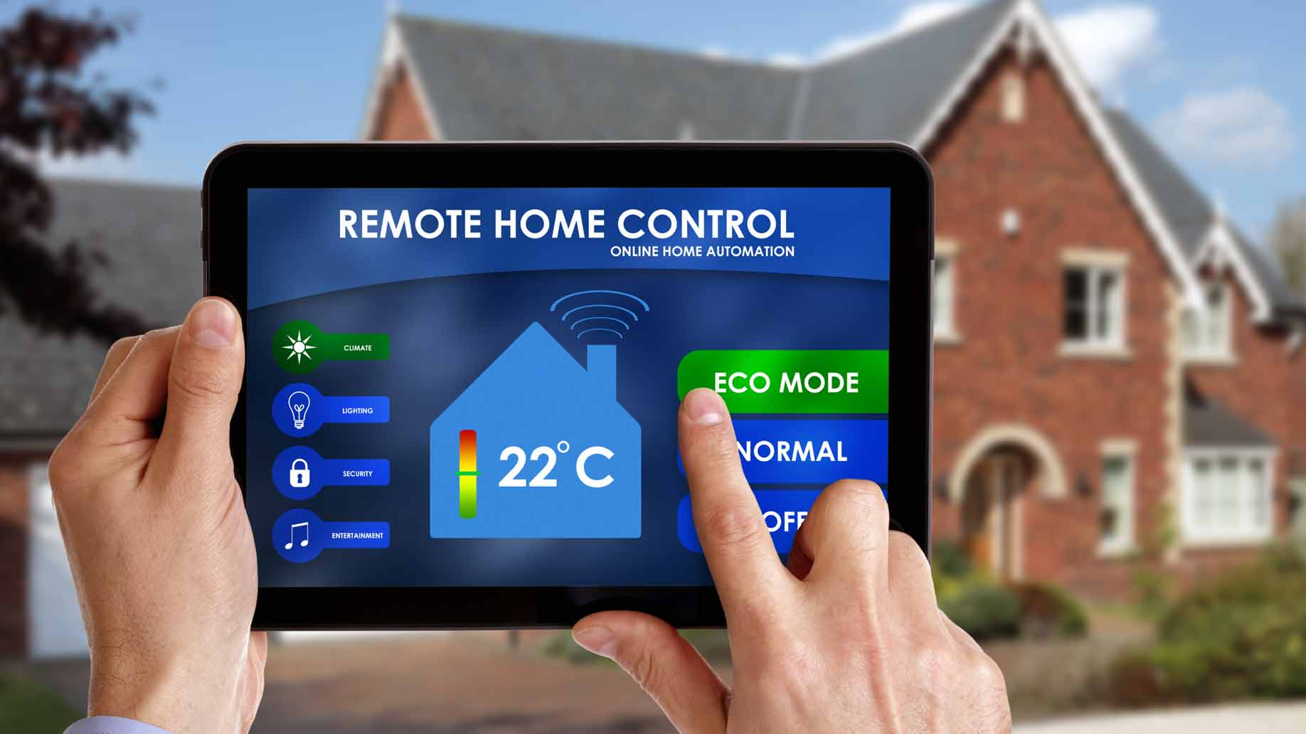 smart home thermostat technology tablet control