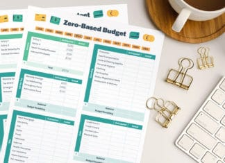 Zero Based Budget Printable On Desk