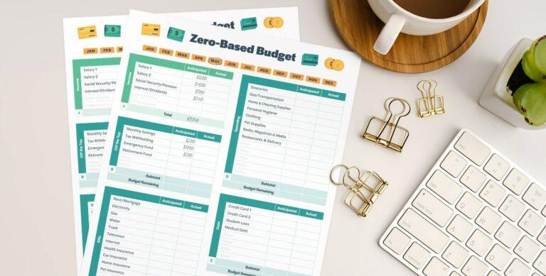 Zero Based Budget Printable On Desk