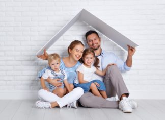 Family Under One Roof Concept Kids Parents