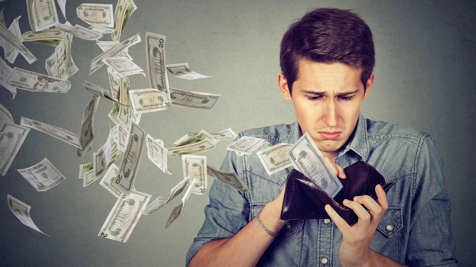 money leaving wallet